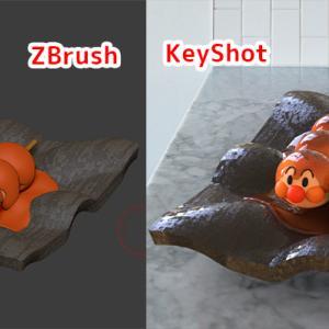 Keyshot for zbrush-ポリペイント情報を利用したレンダリングをやってみた