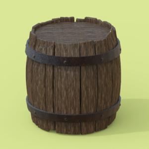 ZBrush-木樽チュートリアルをやってみた【メイキング】