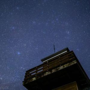 今日の星空☆展望台を見上げたら