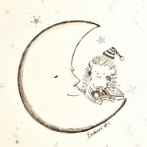「お月さまと読む本は…」