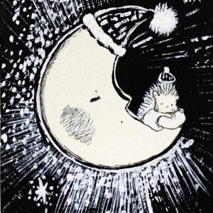 「お月さまとおやすみ」三日月バージョン