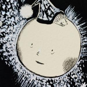 「お月さまとおやすみ」流れ星☆