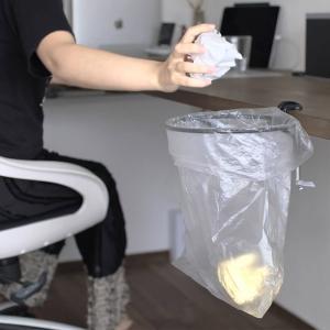 テーブルやデスクに固定できる!クランプ式簡易ゴミ箱リング「トラッシュリングクランパー」が便利【レビュー】