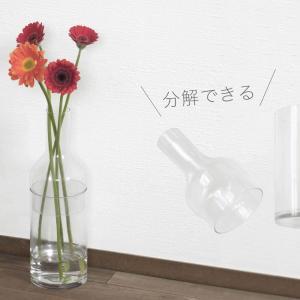 瓶のようなLABO GLASSフラワーベースは枝物もお花も飾りやすくて、2通りの使い方ができます【レビュー】