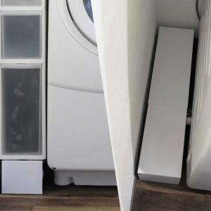 【レビュー】山崎実業 tower 洗濯機隙間ラックで洗濯機のホースを隠してスッキリ収納にしました