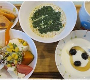 (朝)フルグラ (昼)メロンパン (夜)肉豆腐