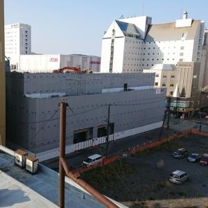 旧西武旭川店B館の解体進む