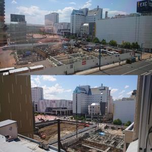 旭川西武の跡地の工事2020年7月
