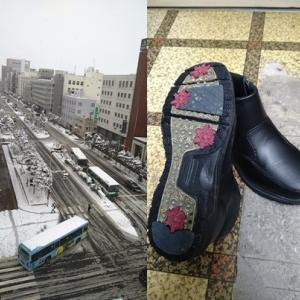 旭川の積雪と靴