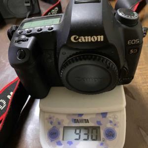最近のカメラは軽くなりました。