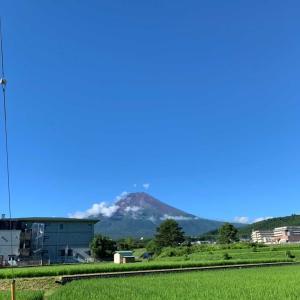 富士の裾野、日陰でも暑い