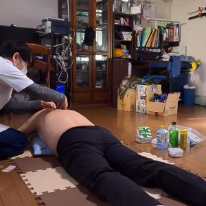 背中の鍼とマッサージが効いた