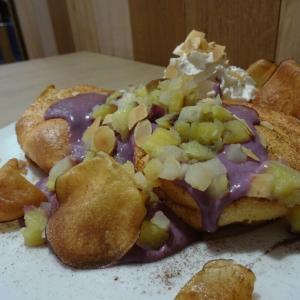☆東京 お台場☆湘南パンケーキ(紫いものスイートポテトパンケーキ)