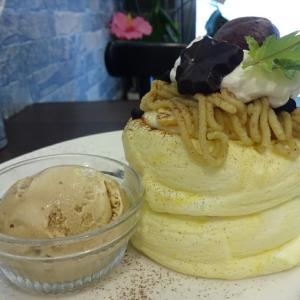 ☆神奈川 日吉☆Cafe du Paris(和栗のモンブランパンケーキ)