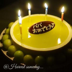 いちごのない季節、オリジナルメロンケーキでお誕生日♪