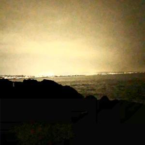 小田原磯で夜釣り、