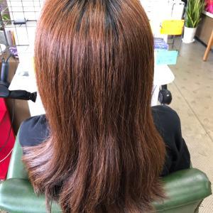 髪が多くても大丈夫!デジタルパーマしっかりいきます!