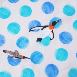 本番生地に刺繍★シャチ&ペンギン