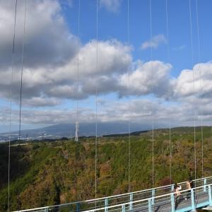もみじ狩り 静岡県三島市 三島スカイウォーク(3)400m渡り始めます