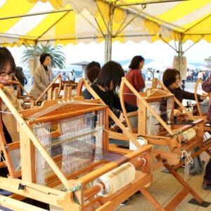 くらふとフェアー蒲郡2019 三河木綿の手織り体験
