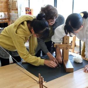 今日は竹島で三河木綿のフルコース体験です