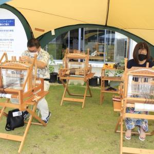 コロナ自粛全面解除の初日は竹島で手織体験でした