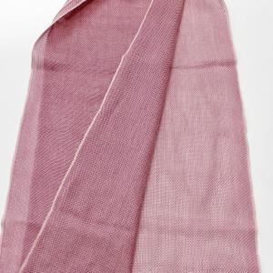 シルクカラミ織りストールの織上がり