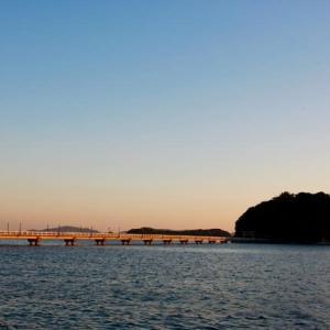 今日も竹島の夕日は美しかった