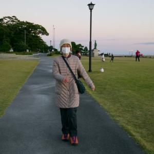 今日の竹島は夕焼け