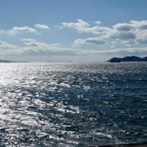 強風の竹島と光海