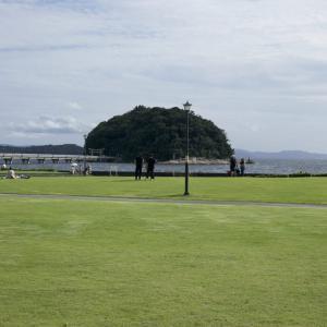 白砂青松の竹島海岸は療養の地であった