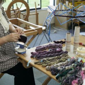 自分の手紡ぎした糸を織りたい
