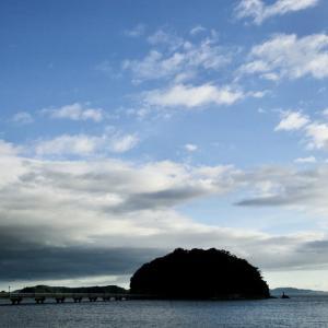 台風一過の竹島海岸