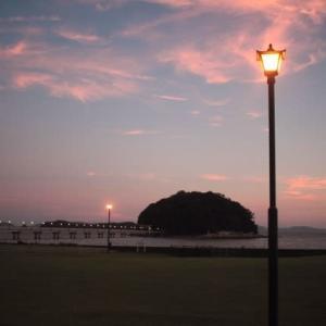 竹島の夕暮れ