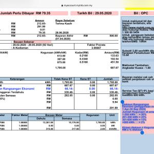 TNB  ( 電力料金の割引 : 解析、請求金額チェック )