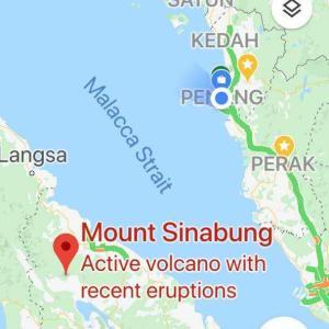インドネシアでの火山噴火 ( イポーへの影響? )