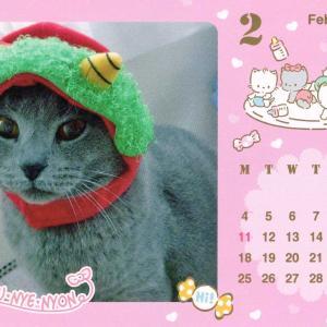 2月のカレンダー作ってみました。