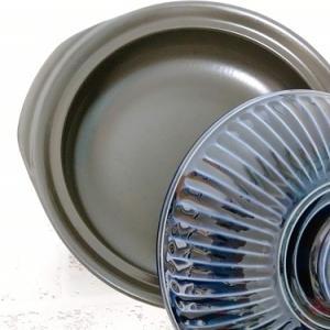 人気の銀峯陶器の土鍋・菊花|モダンで美しい瑠璃色の土鍋に買い替えました