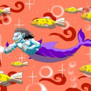 海を泳ぐ鮫人