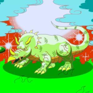 草原のトリケラトプス