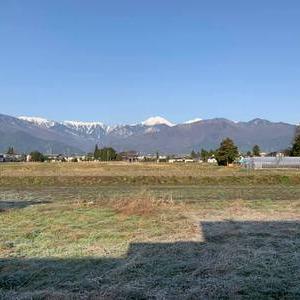 安曇野の我が家から見える常念岳