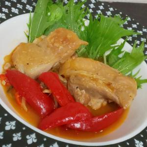 鶏もも肉のパプリカ煮