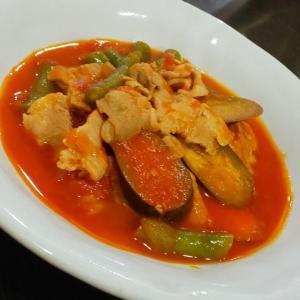 豚ロース肉と夏野菜のトマト煮