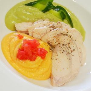 鶏ハムと2色のソース