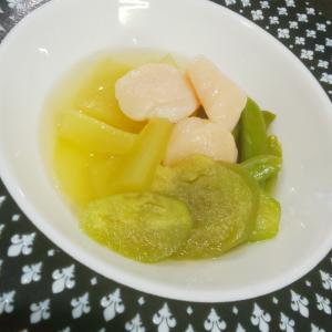 ホタテと野菜の冷製昆布出汁煮