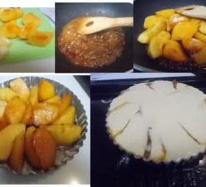 リンゴと柿のタルト♪ 美味しそう~~~(^^♪