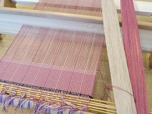 シルケットコットンで網代織り