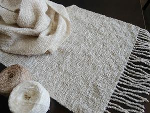 シルク花モールのショール 織りました 素晴らしい風合い