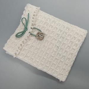 ワッフル織りのミニポーチ作りました