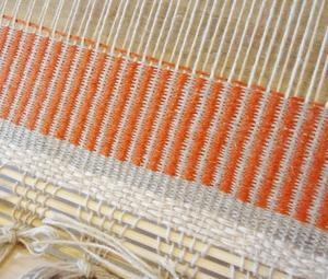 初めての ラーヌ織り ランチョンマット